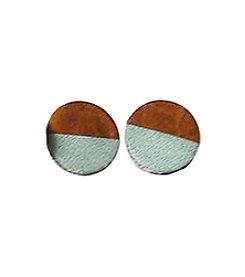 Permanent Baggage Two Tone Stud Earrings
