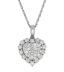 0.50 ct. t.w. Diamond Heart Pendant Necklace in 10K White Gold