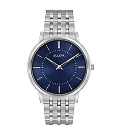 Bulova® Men's Dress Stainless Steel Bracelet Watch