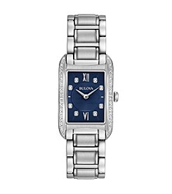 Bulova® Women's Stainless steel & Diamond Watch