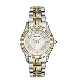 Bulova® Dress Two Tone Crystal Watch