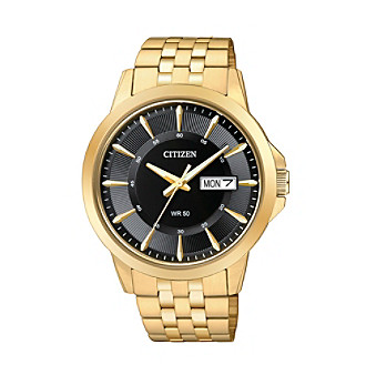 Citizen® Men's Everyday Men's Black Dial Goldtone