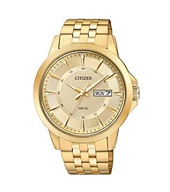Citizen® Men's Crystal-Accent Goldtone Stainless Steel Watch