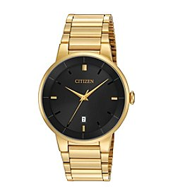 Citizen® Men's Goldtone Black Dial Watch