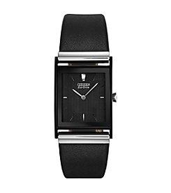 Citizen® Black Analog Eco-Drive Watch
