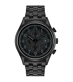 Citizen® Men's Eco-Drive Black Ion Plated Chandler Chronograph Watch