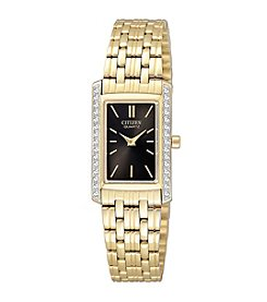 Citizen® Women's Goldone Quartz Swarovski Crystal Watch