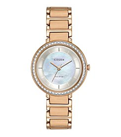 Citizen® Ladies' Eco-Drive Rose Goldtone Paradex Watch