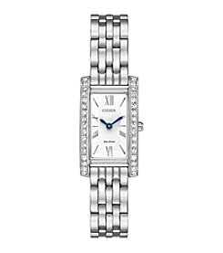Citizen® Ladies' Eco-Drive Stainless Steel Silhouette Crystal Watch