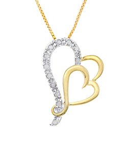 Marsala Genuine Diamond Heart Pendant
