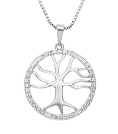 Marsala Genuine Diamond Tree Of Life Pendant