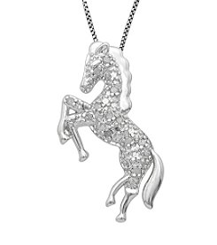 Marsala Genuine Diamond Horse Pendant