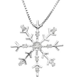 Marsala Genuine Diamond Snowflake Pendant