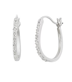 Marsala Genuine Diamond Hoop Earrings