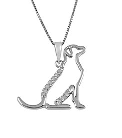 Marsala Genuine Diamond Dog Pendant