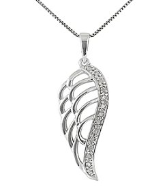 Marsala Genuine Diamond Angel Wing Pendant
