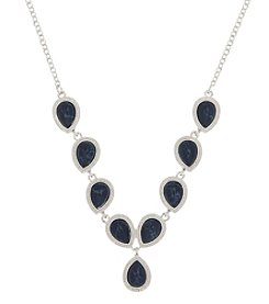 Nine West® Adjustable Reconstituted Stone Y Necklace