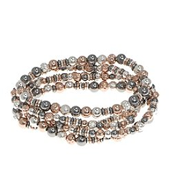 Nine West® Five Row Beaded Stretch Bracelet
