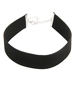 Robert Rose Wide Faux Suede Choker