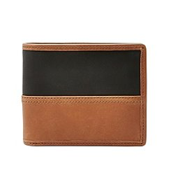 Fossil® Tate RFID Bifold Wallet With Flip ID