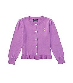 Polo Ralph Lauren® Girls' 2T-6X Ruffle Cardigan Sweater