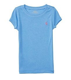 Polo Ralph Lauren® Girls' 2T-6X Short Sleeve Crewneck Top