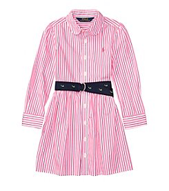 Polo Ralph Lauren® Girls' 2T-6X Long Sleeve Woven Dress