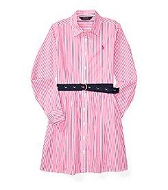 Polo Ralph Lauren® Girls' 7-16 Long Sleeve Woven Dress