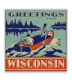 Meissenburg Designs Greetings From Wisconsin Sign