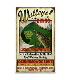 Meissenburg Designs Walleye Are Biting Sign