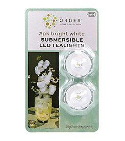 Order Home Collection® 2 pc. Bright White Submersible Tealight With Timer Set