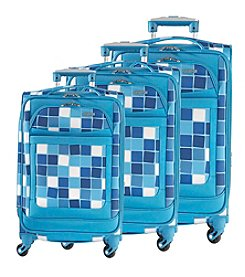 American Tourister® iLite Max Blue Squares Luggage Collection + $50 Gift Card by Mail