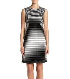 Nine West® Stripe Seamed Dress