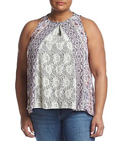 Skylar & Jade™ Plus Size Lace Detailed Swing Tank