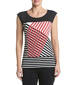 Calvin Klein Striped Shoulder Tee