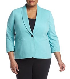 Nine West® Plus Size Ponte Ruched Jacket