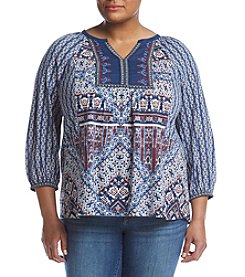 Vintage America Blues™ Plus Size Alpine Moonrise Tile Top