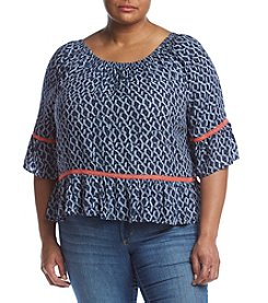 Democracy Plus Size Peasant Top