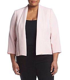 Kasper® Plus Size Crepe Flyaway Jacket