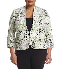 Kasper® Plus Size Printed Jacket