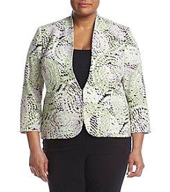 Kasper® Plus Size Printed Jacket