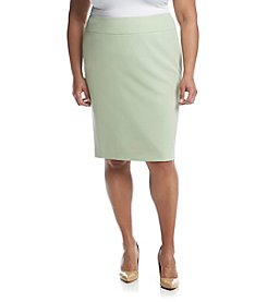 Kasper® Plus Size Crepe Skirt