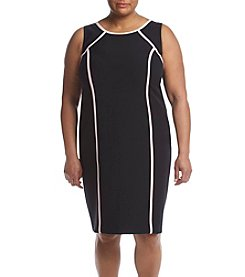 Kasper® Plus Size Jewel Neck Dress