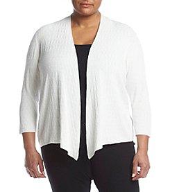 Kasper® Plus Size Flyaway Cardigan