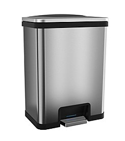 halo™ TapCan™ Effortless Stainless Steel 49-Liter Trash Can