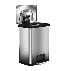halo™ 13-Gallon AirStep™ Trash Can Stainless Steel