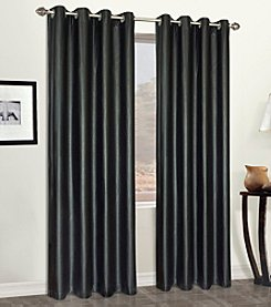 United Curtain Co. Leather 8-Grommet Window Curtain Panel