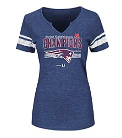 Majestic® NFL® New England Patriots Women's AFC Conference Champions Short Sleeve Tee