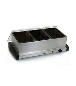 Elite Gourmet 3-Tray Mini Buffet Server