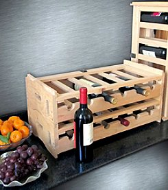 Northbeam Stacking Wooden Wine Organizer